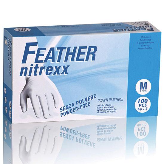 guanti nitrile blu monouso reflexx feather chiaromonte