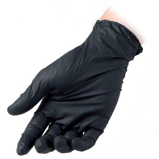guanti nitrile monouso neri senza polvere lattice taglia