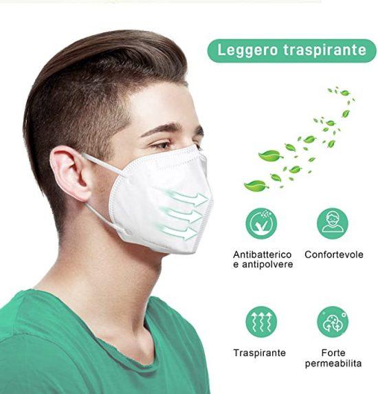 medmask mascherina ffp2 5 strati monouso